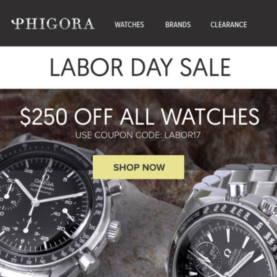 Phigora Labor Day Email Created by Pathways Marketing Thumbnail