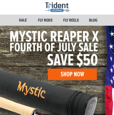Trident Fly Fishing Email created by Pathways Marketing Thumbnail